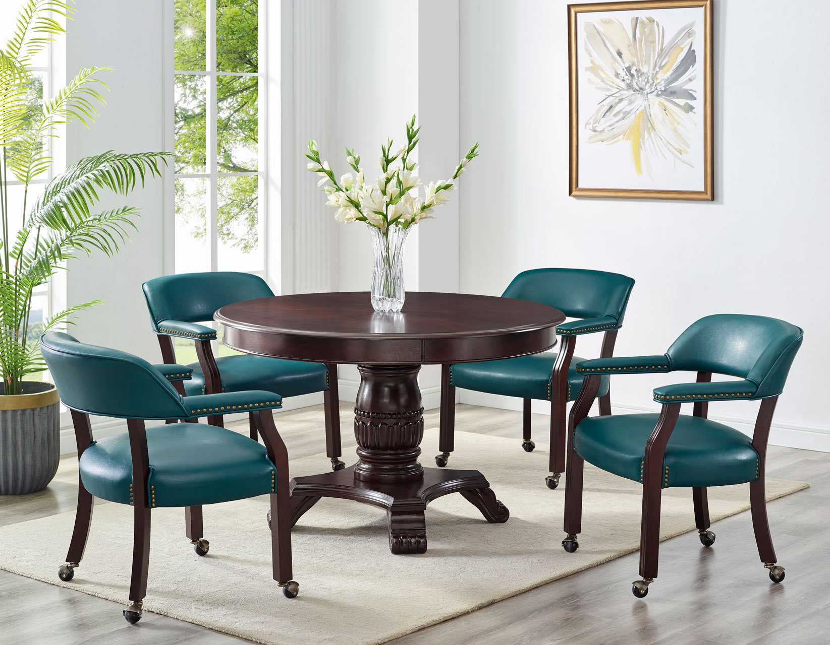 Game Table And Chairs Tournament 6, Round Gaming Table With Chairs